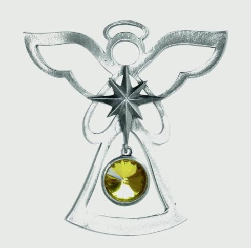 Birthstone Angel Ornament - November
