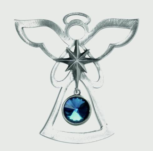 Birthstone Angel Ornament - December