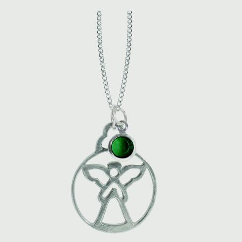 $18.50 Birthstone Angel Pendant - May