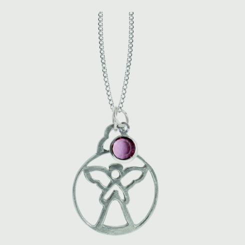 $18.50 Birthstone Angel Pendant - June