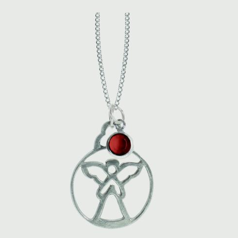 $18.50 Birthstone Angel Pendant - July