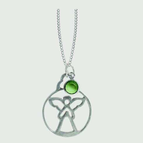 $18.50 Birthstone Angel Pendant - August