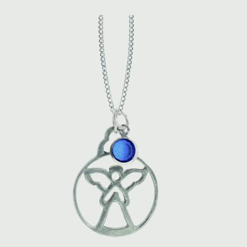 $18.50 Birthstone Angel Pendant - September