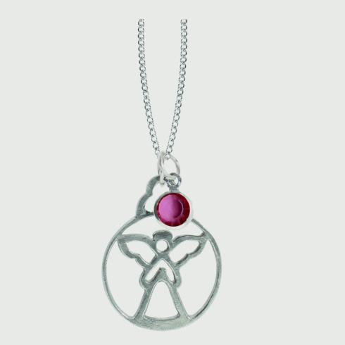 $18.50 Birthstone Angel Pendant - October