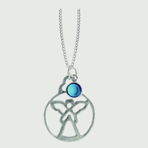 $18.50 Birthstone Angel Pendant - December