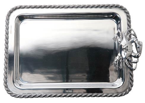 "$112.00 Masthead Medium Rectangular Tray with Crab, 15"" x 10"""