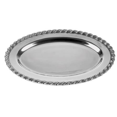"$68.00 Masthead Medium Oval Tray, 14 ½"" x 10"""