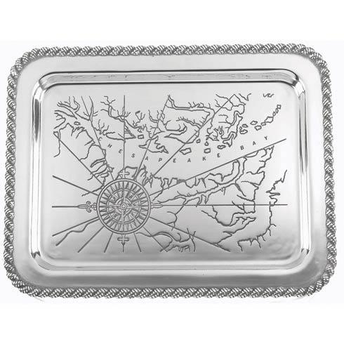 "$120.00 Latitudes Large Chesapeake Tray, 20"" x 15"""