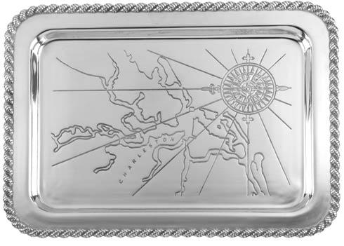 "$120.00 Latitudes Large Charleston Tray, 20"" x 15"""