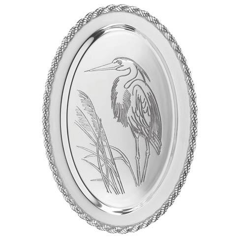 "$94.00 Latitudes Large Oval Heron Tray, 20"" x 15"""