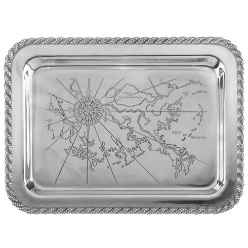"$120.00 Latitudes Large Gulf Shores Tray, 20"" x 15"""