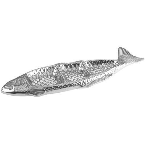 "$75.00 Ocean 3 Division Fish Tray, 19"" x 6 ½"""