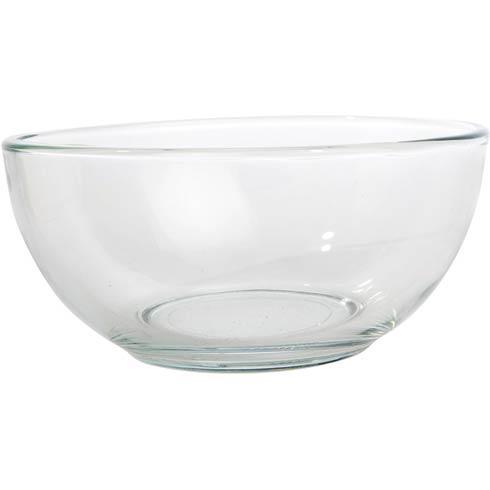 "Glass Dip Bowl, 6 ½"" dia."