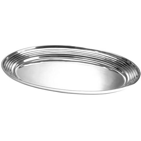 "$164.00 Extra Large Plain Bowl with Lines, 24"" x 17 ½"""