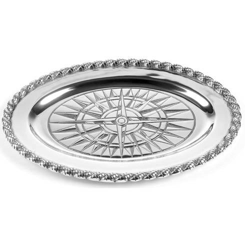 Voyages Medium Oval Tray, 14 ½