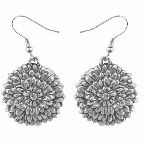 $17.00 Earring, November/Chrysanthemum