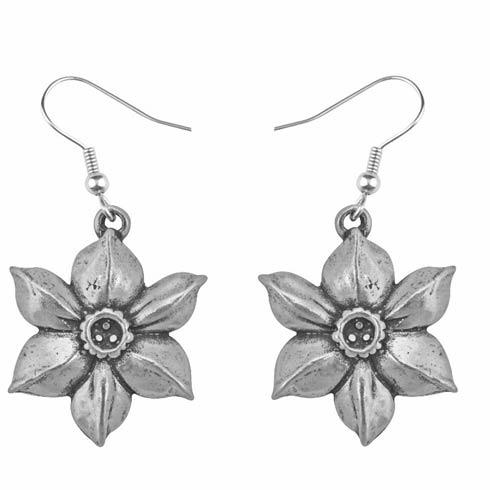 $17.00 Earring, December/Narcissus