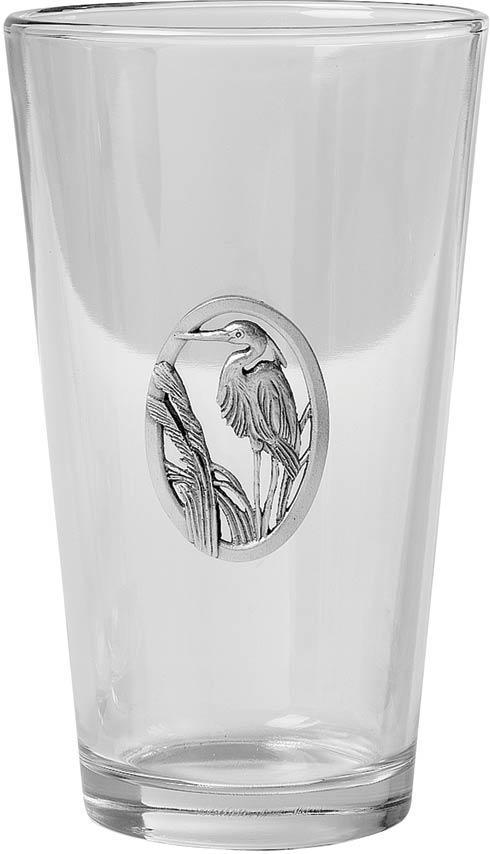 Salisbury  Glassware Great Blue Heron Pint Glass, set of 4 $52.00