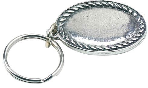 Rope Edge Engravable Key Ring
