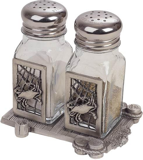 $66.50 Crab Net Salt and Pepper Shakers with Dock