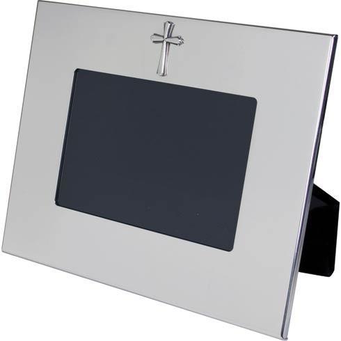 "$130.00 Horizontal Wide Border Frame w/Cross 4"" x 6"""