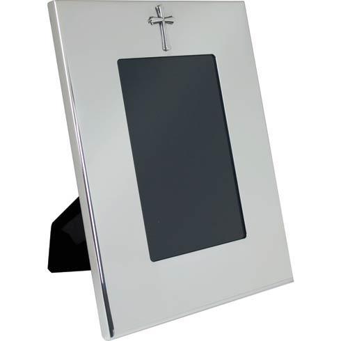 "$130.00 Vertical Wide Border Frame w/Cross 4"" x 6"""