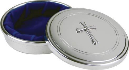 "$59.00 Southern Craftsmen Jewel Box w/Cross, 3"" dia."