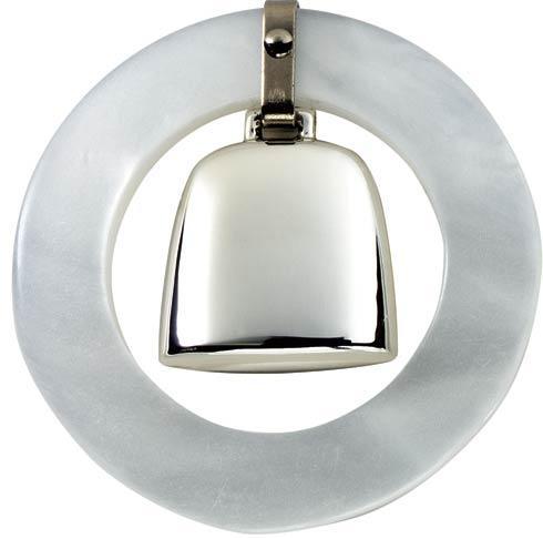 $71.00 White Teething Ring Rattle