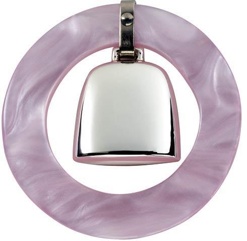 Pink Teething Ring Rattle