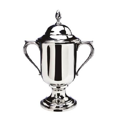 "$480.00 Medium Loving Cup with Lid, 10"" tall"