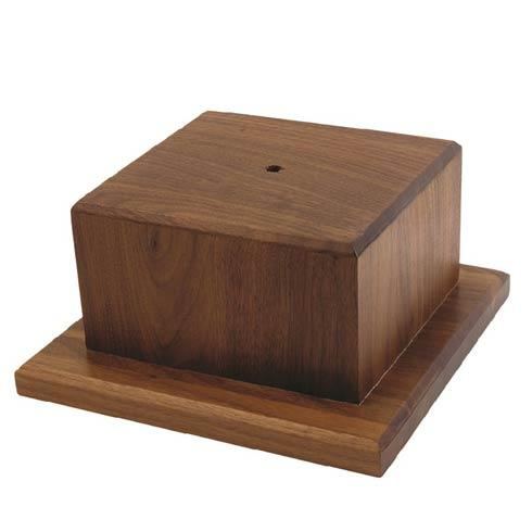 "$63.00 Medium Wooden Base, 4 ½"" tall"