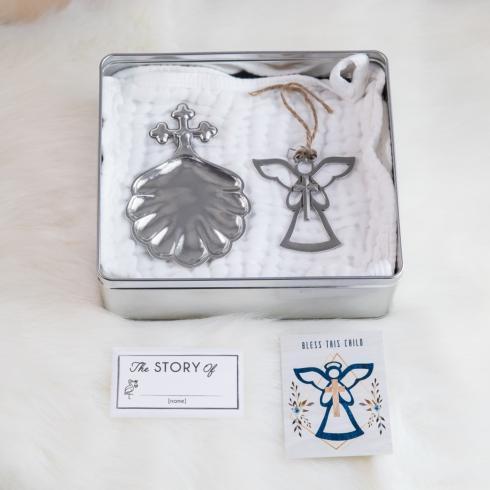 $54.00 Baptismal Shell & Angel Ornament Gift Set