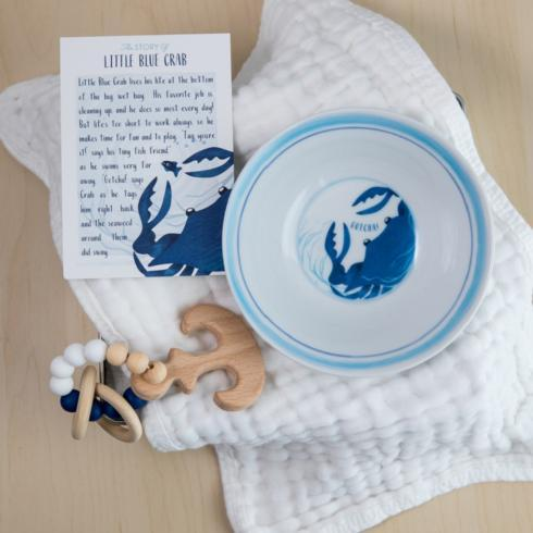 $51.00 Little Blue Crab Bowl & Teether