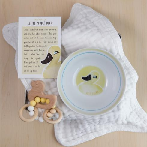 $51.00 Little Puddle Duck Bowl & Teether