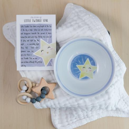 $51.00 Little Twinkle Star Bowl & Teether
