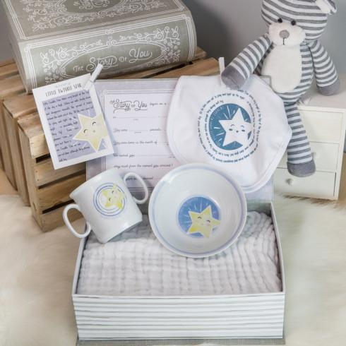 $65.00 Little Twinkle Star Cup, Bowl, & Bib Set