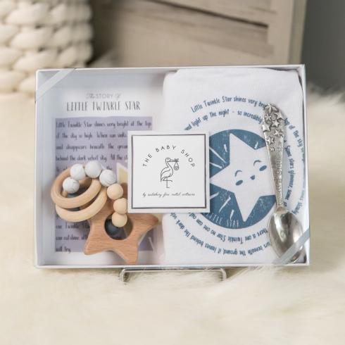 $43.00 Little Twinkle Star Spoon, Bib, & Teether Set