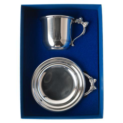 Bow Handle Porringer & Cup Gift Set