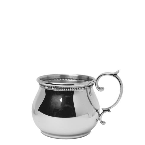 $47.00 Bulged Baby Cup with Scroll Handle and Beading