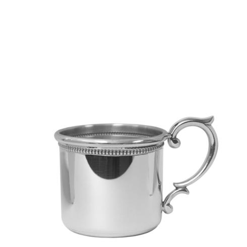 Straight Baby Cup with Scroll Handle and Beading