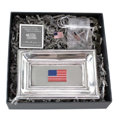 $60.00 Classic Tray & Flag Cuff Links