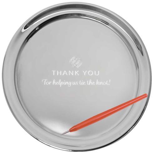 "$190.00 13"" Gallery Tray & Engraving Pen - Thank You"