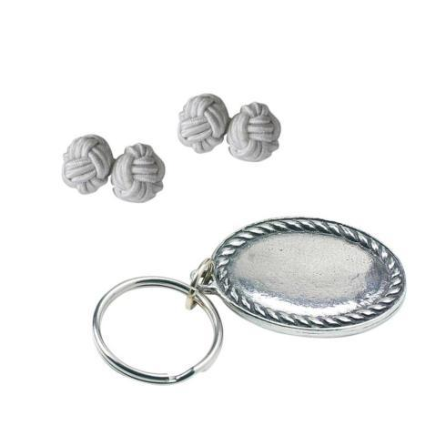 $25.00 Rope Edge Keyring & Knot Cuff Links