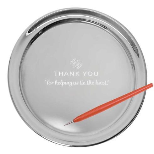 "$160.00 11"" Gallery Tray & Engraving Pen - Thank You"