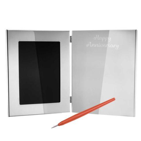$305.00 Tablet Frame & Engraving Pen - Happy Anniversary