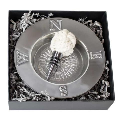 $75.00 Voyages Wine Coaster & Knot Wine Stopper