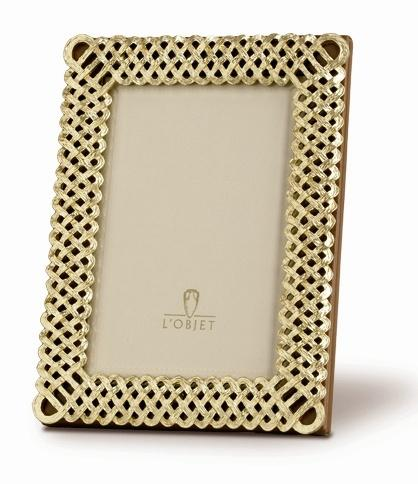 L'Objet   Gold Plated Braid Frame 4 X 6 $165.00