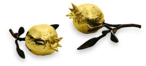 Schiffman's Exclusives   Michael Aram Pomegranate Gold Salt & Pepper Shakers $100.00
