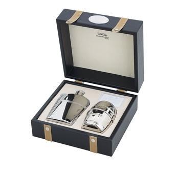 $125.00 Stainless Hob Nob Beaker & Flask In Presentation Box