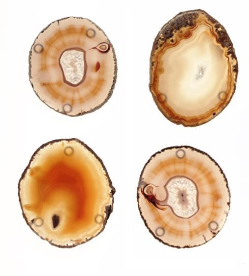 Anna by Rablabs   Pedra Natural Agate Coasters Set Of 4 $75.00